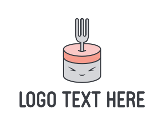 Cutlery - Cute Fork logo design