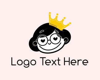 Tiara - Cute Princess logo design
