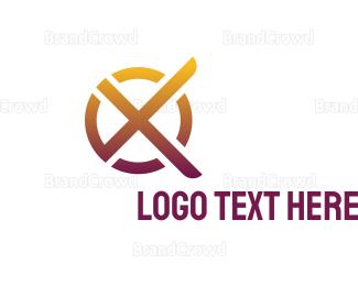 Complete - Modern X Circle logo design