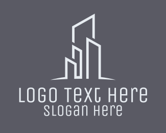 Real Estate - Real Estate Skyline Buildings logo design
