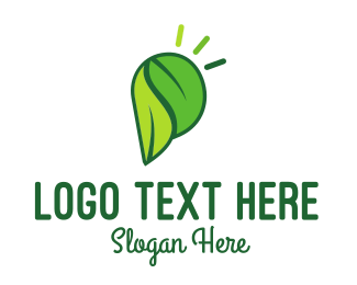 Eco Energy - Green Leaves logo design