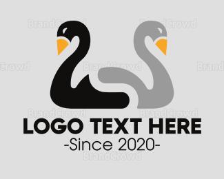 Duo - Duck Duo logo design