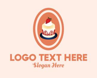 Pancake - Strawberry Shortcake Shop logo design