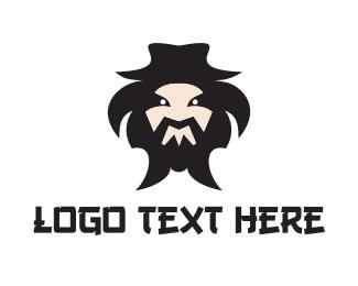 Wrestler - Mongol Mascot logo design