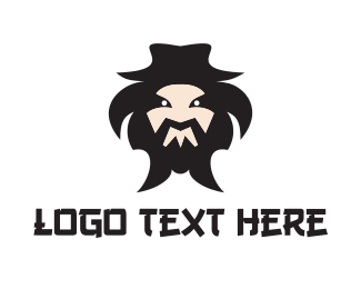 Samurai - Mongol Mascot logo design