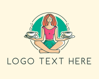 Brunch - Coffee Tea Balance Woman logo design