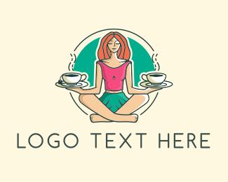 Tea - Coffee Tea Woman logo design