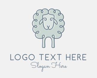 Peru - Wool Sheep logo design