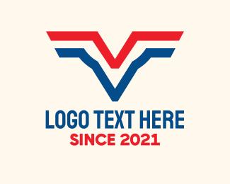 Personnel - American Aviary Letter V logo design