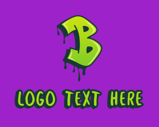Hand Drawn - Graffiti Art Letter B logo design