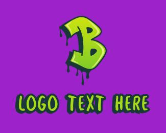 Youth - Graffiti Art Letter B logo design