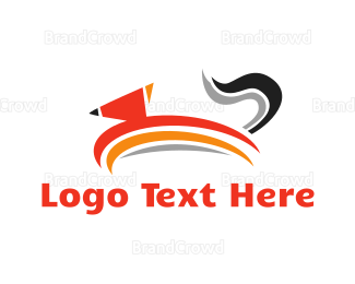 Jump - Jumping Fox  logo design