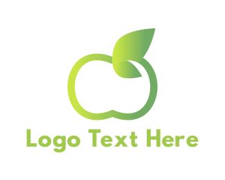 Apple - Green Apple logo design