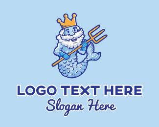Ocean Mermaid King Logo