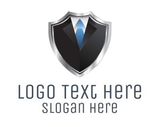 Executive - Shield Suit  logo design