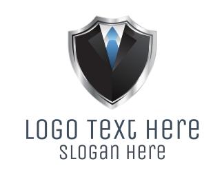 Agent - Shield Suit  logo design