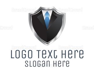 Bachelor - Shield Suit  logo design