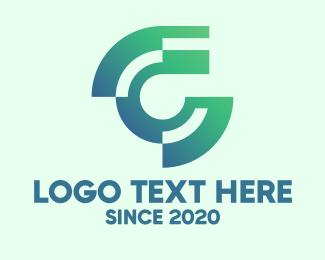 Economic - Modern Tech Letter C logo design