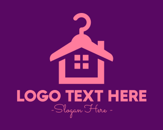 Fashion - Pink Fashion House logo design