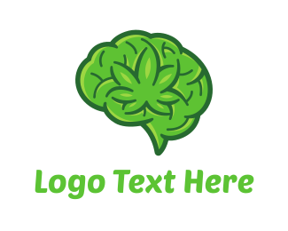 Vape - Marijuana Brain logo design