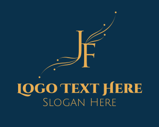 Letter J - J & F logo design