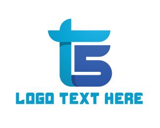 Racing - Blue T & S logo design