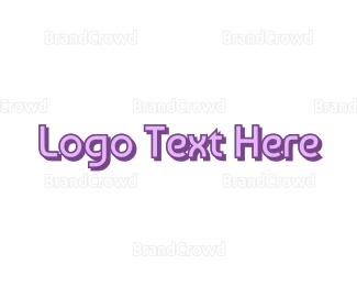 Baby Clothes - Sleek Purple logo design