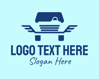 Sedan - Blue Wings Car logo design
