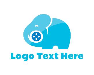Reel - Elephant Movie logo design