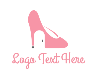 Pink Shoe - Shoe House logo design