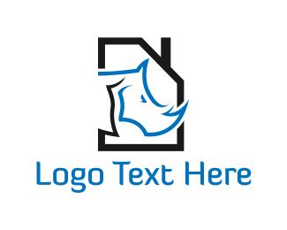 Rhinoceros - Rhino House logo design