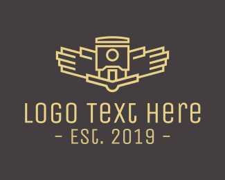 Robot - Abstract Wings logo design