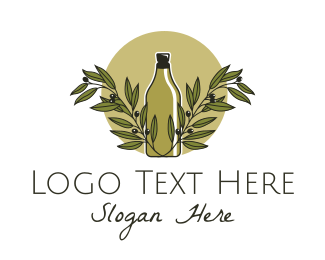 Italian - Olive Oil Bottle logo design