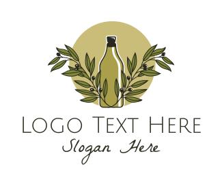 Produce - Olive Oil Bottle logo design