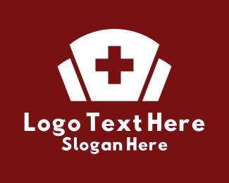 Nurse - White Nurse Cap logo design