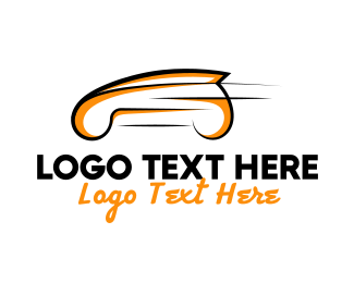 Fast - Orange Car logo design