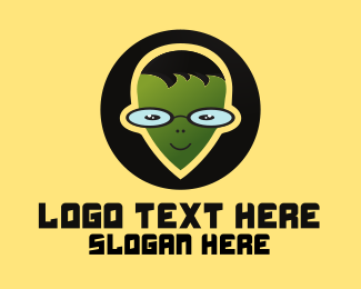 Geek - Geek Alien logo design