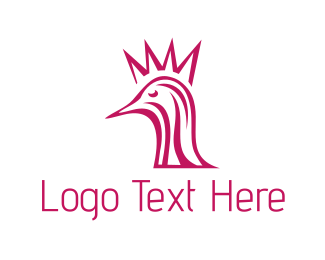 Ostrich - Crown Bird logo design
