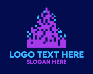 Skyline - Pixel City Skyline logo design