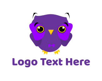 Birdie - Cute Purple Owl logo design