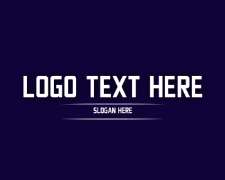 Technology - White Technology Text logo design