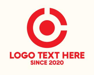 Target Locked - Target Circle Letter C logo design
