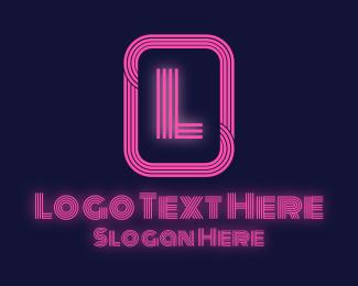 """Retro Neon Lettermark"" by brandcrowd"