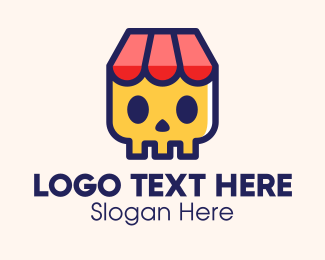 Pawn - Skull Store Shop logo design