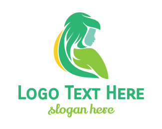 Abstract - Abstract Hair Lady logo design