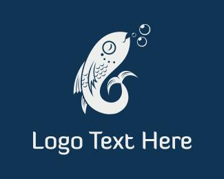 Bubbles - Fish & Bubbles logo design
