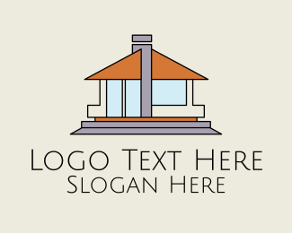 Bungalow - Bungalow House Property  logo design