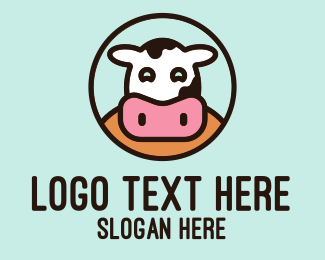 Heifer - Happy Cow Dairy  logo design