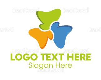 Trio - Colorful Clover logo design