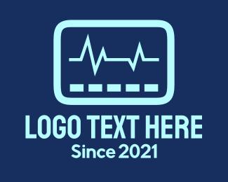 Lifeline - Blue Vital Sign logo design